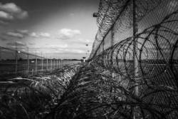 Barbwire fence of a prison