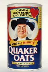 Quaker Oats package label