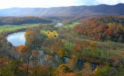 Shenandoah River in Virginia during Autumn