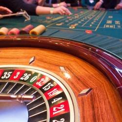 roulette wheel game at a casino