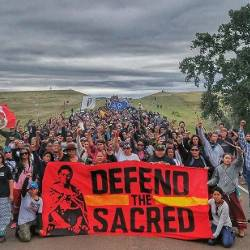 Collective action in Standing Rock to defend the sacred