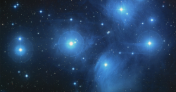 stars in the pleiades star cluster