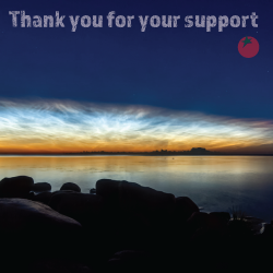 sunset over a body of water with the words THANK YOU FOR YOUR SUPPORT