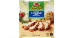 Bag of Tyson Foods chicken breast strips