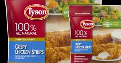 Tyson packaging for chicken strips