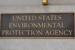 Building plaque of the United States Environmental Protection Agency