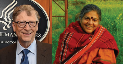 Vandana Shiva and Bill Gates