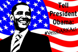 Obama, veto dark act