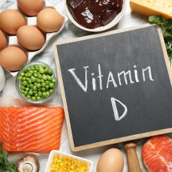 vitamin D with food around it