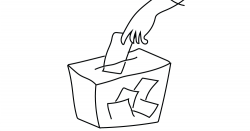Person voting.