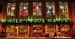 Whole Foods Market store at night