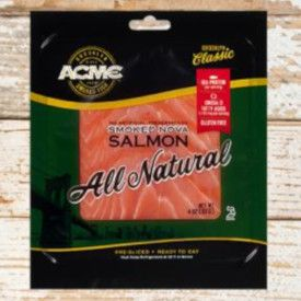 packaging for Acme brand smoked salmon