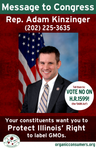 Rep. Adam Kinzinger from IL DARK Act Poster