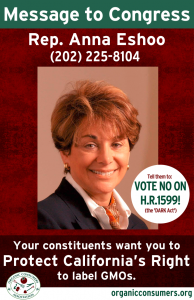 WANTED: Rep Anna Eshoo from CA