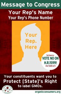 Is your Representative supporting the DARK Act