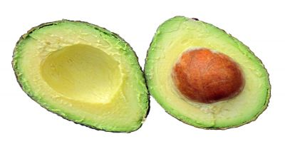 Two halves of an Avacado