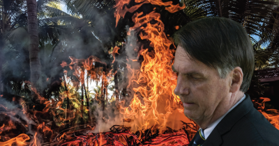 Jair Bolsonaro and fire