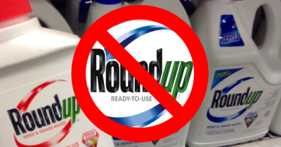 bottles of roundup on shelf