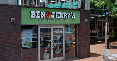 Ben and Jerry's Peace Love Ice Cream Storefront