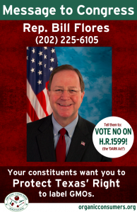 Rep. Bill Flores from TX DARK Act Poster