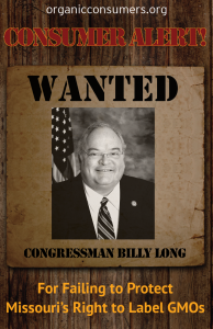 WANTED: Rep. Billy Long from MO
