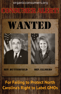 WANTED: Rep. Butterfield & Rep. Ellmers from NC
