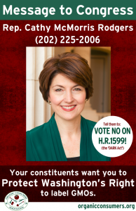 DARK Act Poster Rep. Cathy McMorris Rodgers from WA
