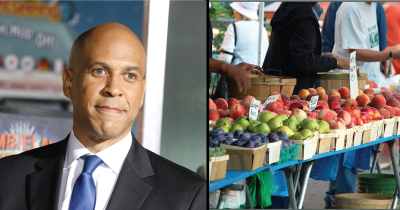 Cory Booker and a farmers market.