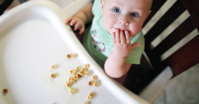 Baby eating.