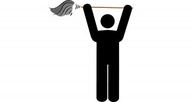 man cleaning with a mop