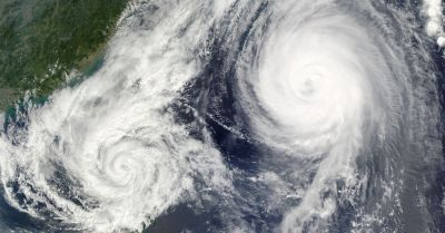 satellite imagery of dual hurricanes