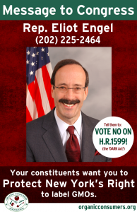 Rep. Eliot Engel from NY DARK Act Poster