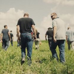 still from the trailer for the movie FARMERS FOOTPRINT