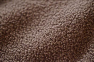 Close-up of brown microfleece fabric