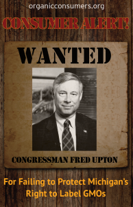 WANTED: Rep. Fred Upton from MI