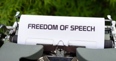 freedom of speech typed on paper