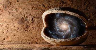 the entire universe contained in a walnut shell