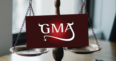 Grocery Manufacturers Association sign with horns.