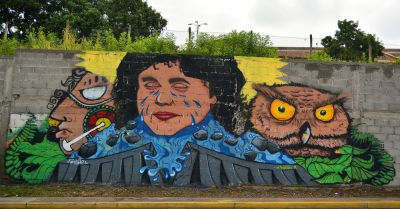 Mural of the Honduran environmental activist Berta Cáceres
