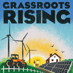 cover for the book Grassroots Rising by Ronnie Cummins
