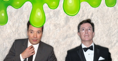Jimmy Fallon and Stephen Colbert getting greenwashed