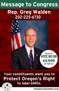Rep. Greg Walden from OR DARK Act Poster