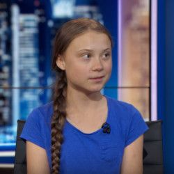 climate change activist Greta Thunberg speaking to Trevor Noah on Comedy Centrals THE DAILY SHOW