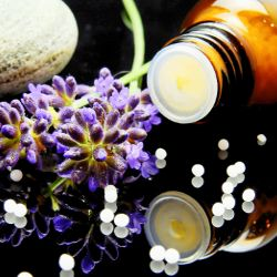 natural homeopathic remedy pastilles with lavender flower