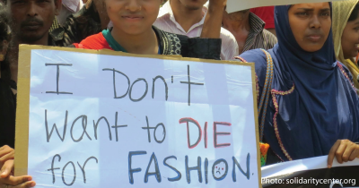 A protest against fashion industry.
