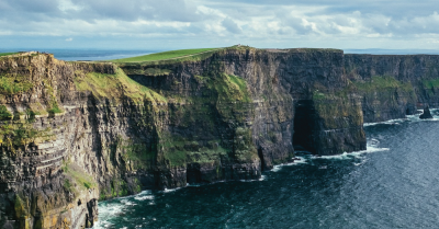 Cliffs in Ireland.