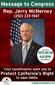 Rep. Jerry Mcnerney from CA DARK Act Poster