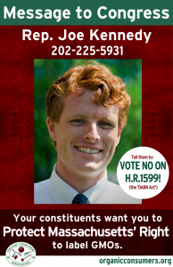 Rep. Joe Kennedy from MA DARK Act Poster