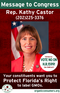 Rep. Kathy Castor from FL DARK Act Poster