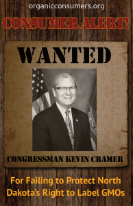 WANTED: Rep Kevin Cramer from ND